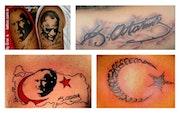 Tattoo piercing make-up airbrush art. Tattoo Piercing