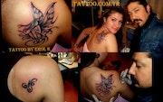Tattoo piercing make-up airbrush art drawing. Tattoo Piercing
