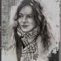 Un Italien dame portant un foulard. Terry Morris