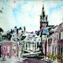 En arrivant à Bécherel, Bretagne.. Laurent Colsenet