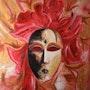 Hadas máscara veneciana. Anne Delpierre