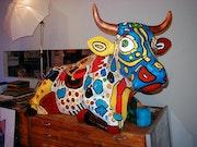 Art Art Cow. Zwirbel Gfk Figuren Team