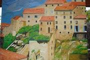 Vue de Sartène, Corse France.