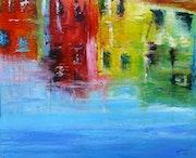 Burano-Canal-Acrylique sur toile 2011.05. Milor