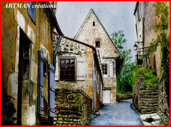 Eine weitere Straße in einem Dorf in der Dordogne. Artman Gilbert Andre