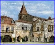Village de Monpazier «une autre vue».