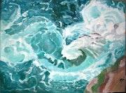 Die Wellen, die Harmonie Türkis.