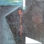 Volcán 2 (trabajo Negro en formato cuadrado). Labor Robert