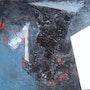 Volcán 5 (trabajo Negro en formato cuadrado). Labor