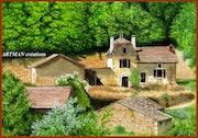 Un hameau en Dordogne.