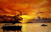 Sunset in the Mediterranean.