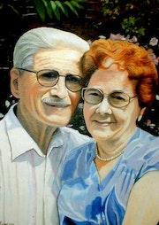 Porträt von älteren Menschen. Gilbert Andre