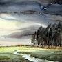 Strom en los bosques del pueblo. Paintings Of Samiran