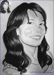 Porträt der jungen Frau. Gilbert Andre