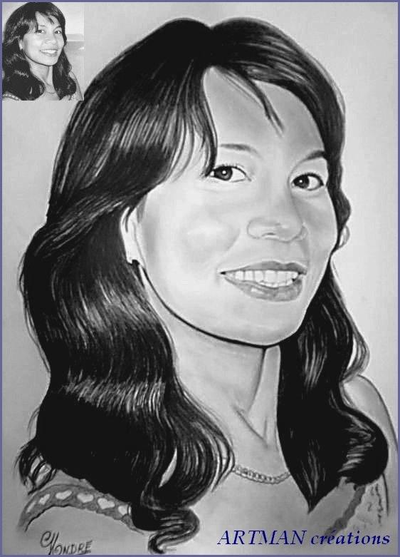 Portrait de jeune femme. Artman Gilbert Andre