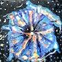 Nebuleuse - Peinture aux émaux. Ingrid Ohayon