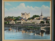 Chateau de Saumur and its barge.