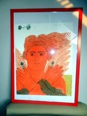 Lithograph Fassianos. Artista