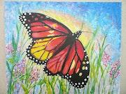 """La mariposa """"Monarca"""", muy altamente migratorias.."""