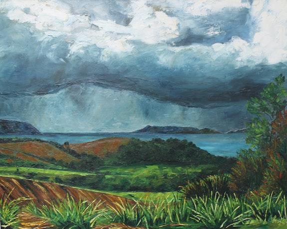 La onda tropical sobre la península de la Caravelle, Martinica. Marie-José Diebolt Marie-José Diebolt