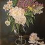 Vase aux pivoines et lilas. Françoise-Elisabeth Lallemand
