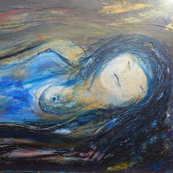 Das Modell Asleep Öl und Acryl auf Leinwand. Jean Paul Faivre Jean Paul Faivre