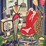 Cosmopolitan Flair - pintura original - Jacqueline_Ditt. Universal Arts Galerie Studio Gmbh