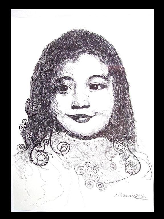 Retrato de niña. Juan Manriquez Manri