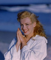 Cibachrome Print, Marilyn Monroe, Tobey Beach, 1949. Peter Schäfermeier