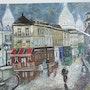 Montmatre copie d un tableau de Maurice Legendre. Luc Terrail