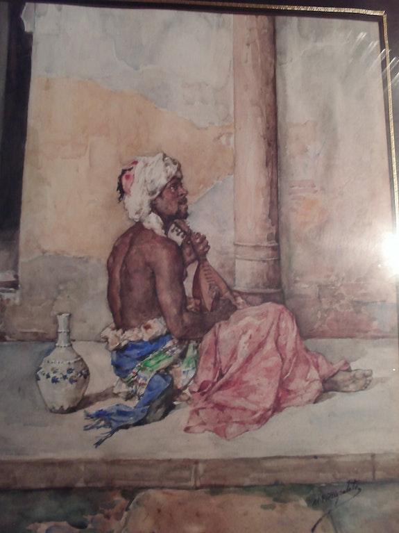 19. Jahrhundert Orientalist Aquarell von mg hispaleto. M G Hispaleto (1836 - 1898)