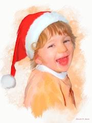 La joie d'un enfant a noel….