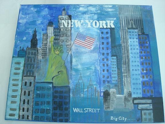 Newyork city et la statue.  Mimi