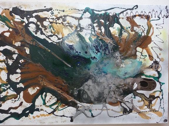 Peinture Abstraite n°1. Ricou Ricou