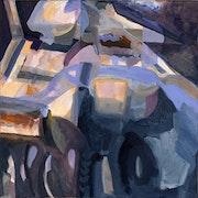 Theaterland, Malerei in herrlichem Licht, gelungenen Kontrasten und Farbklang. Horst Gutbrod