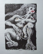 «Indulgence». Limited edition 3 colour screenprint. This one is 5/10. Paul Ansell