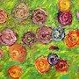 Estas pocas flores arrancó desde el jardín Esperamos que las señoras. J. P Peintre Intuitionniste