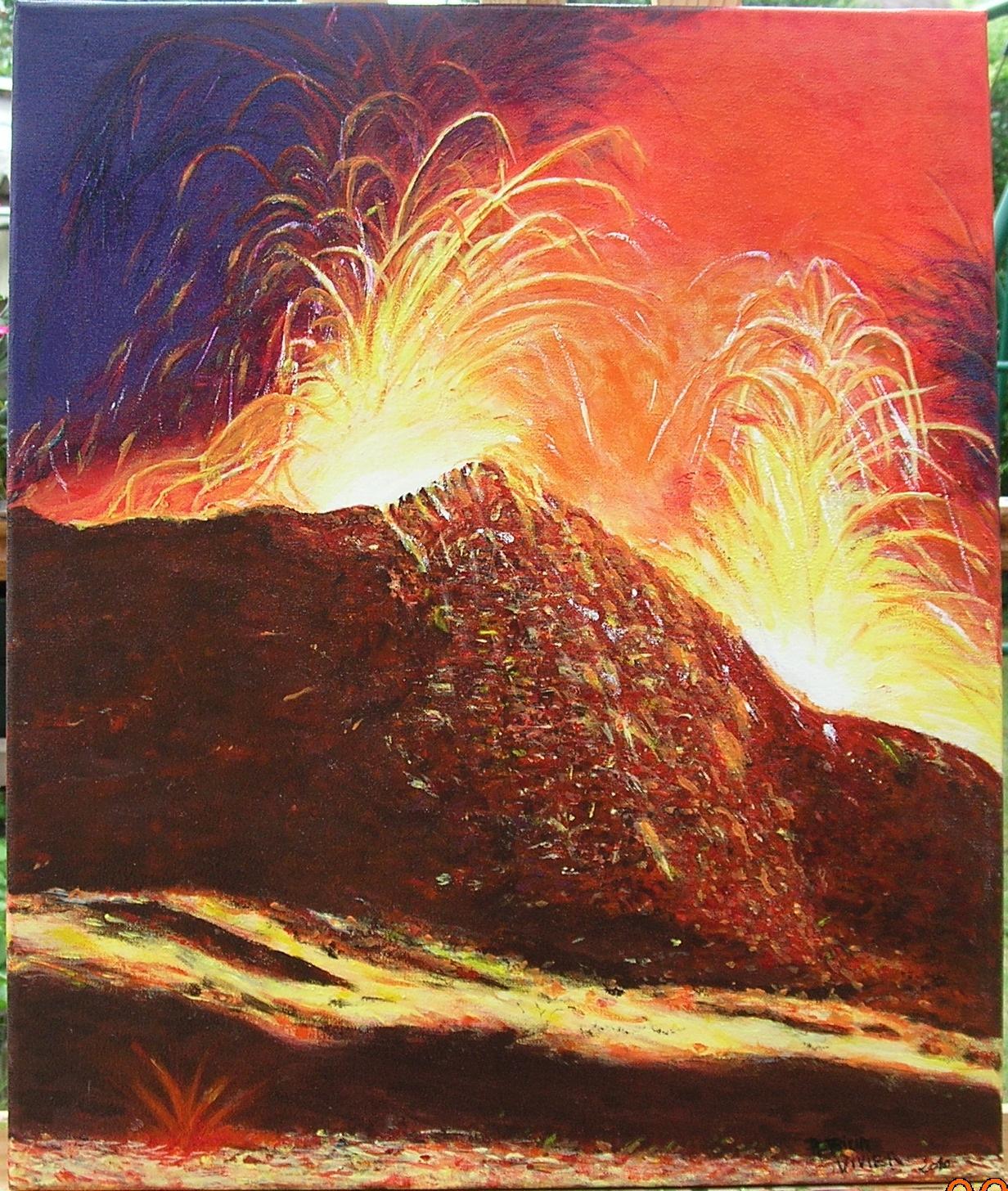 Peintures 2010 Volcan Piton De La Fournaise Reunion Page 9099 Oeuvres D Artistes