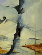 Die blau gebrochene Landschaft. Peter Klonowski