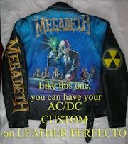 Perfecto Leder Megadeth Airbrush. Hardrock-Artworks