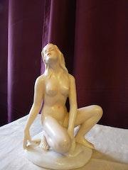 Porzellanfigur Frauenakt C. Tielsch Altwasser. Kerstin Daehnert-Haensel