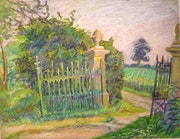 """""""Old gateway to the Normandy, oil pastel."""