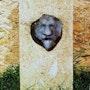 Here Lies (tombstone of my symbolic death) Raku, lime, sand. Sculpteur / Tauzia Jean-Pierre