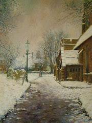 Snowy Day Saint Kirche Eanswithe (Volks-).