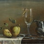Still life with white St. John's. Axel Zwiener