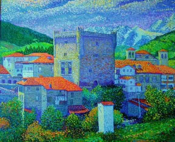 Infantado tower in Potes, Cantabria community. R. Blanco Ramon Blanco