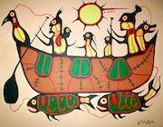 Malerei der First Nations aus Kanada.