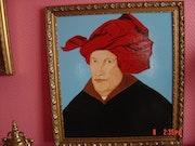 Porträt des Mannes im roten Turban 1433. Rdoby