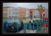 Italy: Venice, the Grand Canal and gondolas. Monique Martin