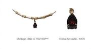 Almandine garnet 1.76 carat gold mounted 750/1000ème. Xi Création